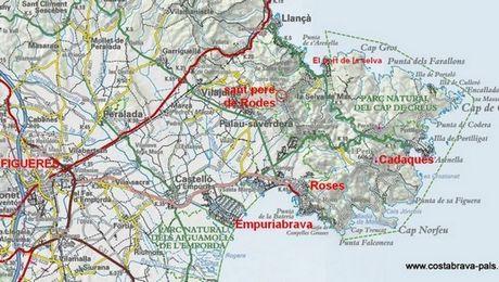 carte espagne region rosas