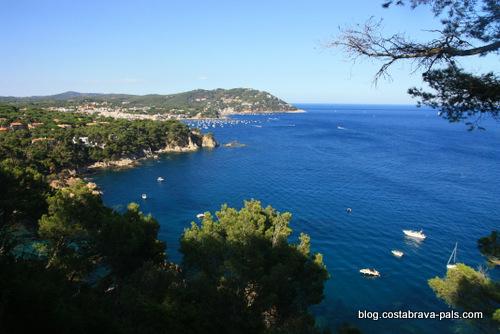 vue de la costa Brava des jardins du Cap Roig