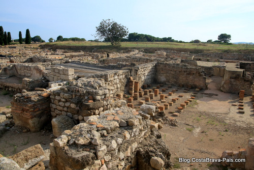 Visiter Empuries - les thermes romaines