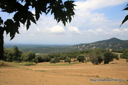Romanya de la selva - vue sur les Gavarres