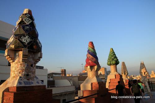 palais Guell à Barcelone - Palau Guell - la terrasse