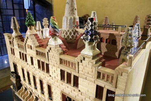 palais Guell à Barcelone - Palau Guell - maquette