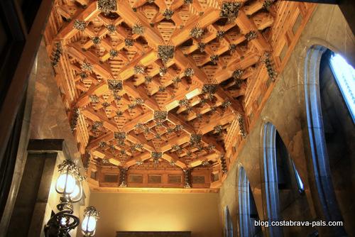 palais Guell à Barcelone - Palau Guell - plafonds à caisson