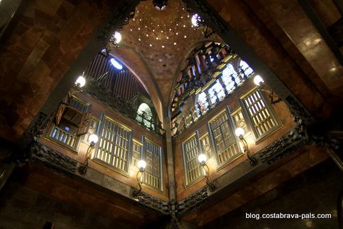 palais Guell à Barcelone - Palau Guell - la coupole