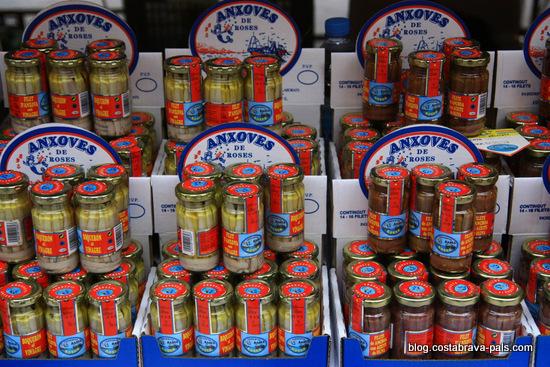 marché à Rosas Costa Brava