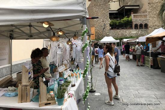 marché à Palamos - marché d'été