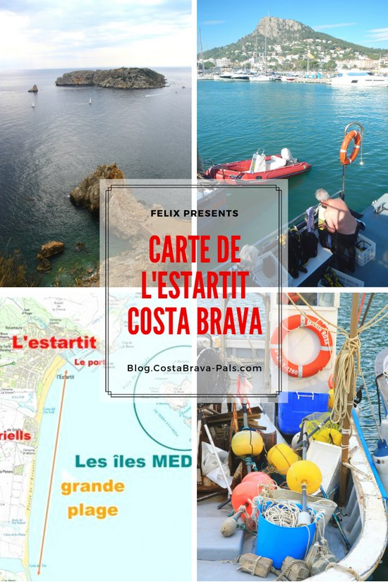 Carte Estartit costa Brava