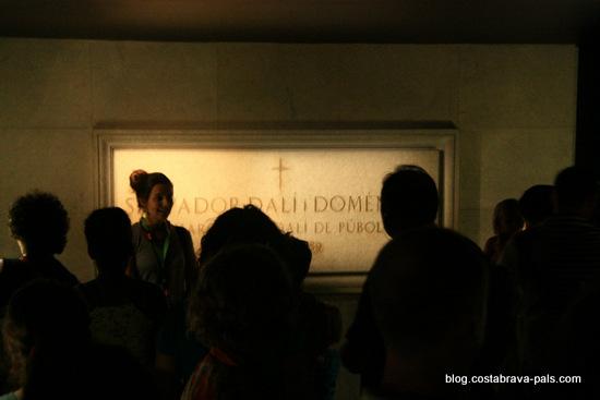 Musée Dali de Figueras - le tombeau de dali