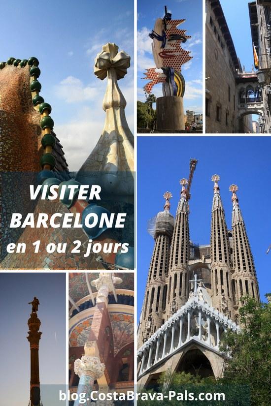 Visiter BARCELONE en 1 ou 2 jours